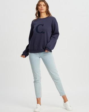 Calli Billie Oversized Sweatshirt - Sweats (Navy Blue)