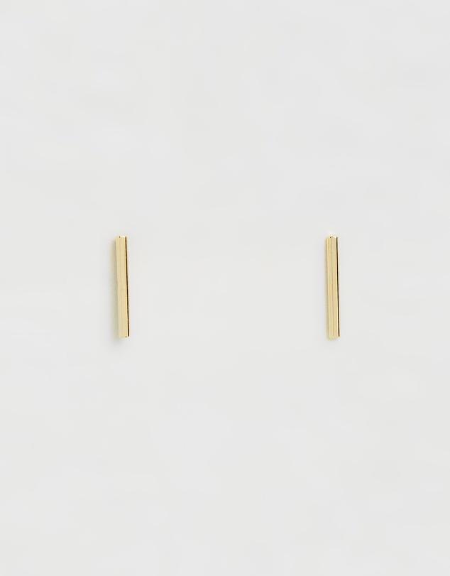 gold-plated-fine-bar-stud-earrings by orelia-london