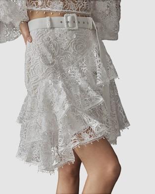 LEO & LIN Immaculate Lace Mini Skirt - Skirts (White)