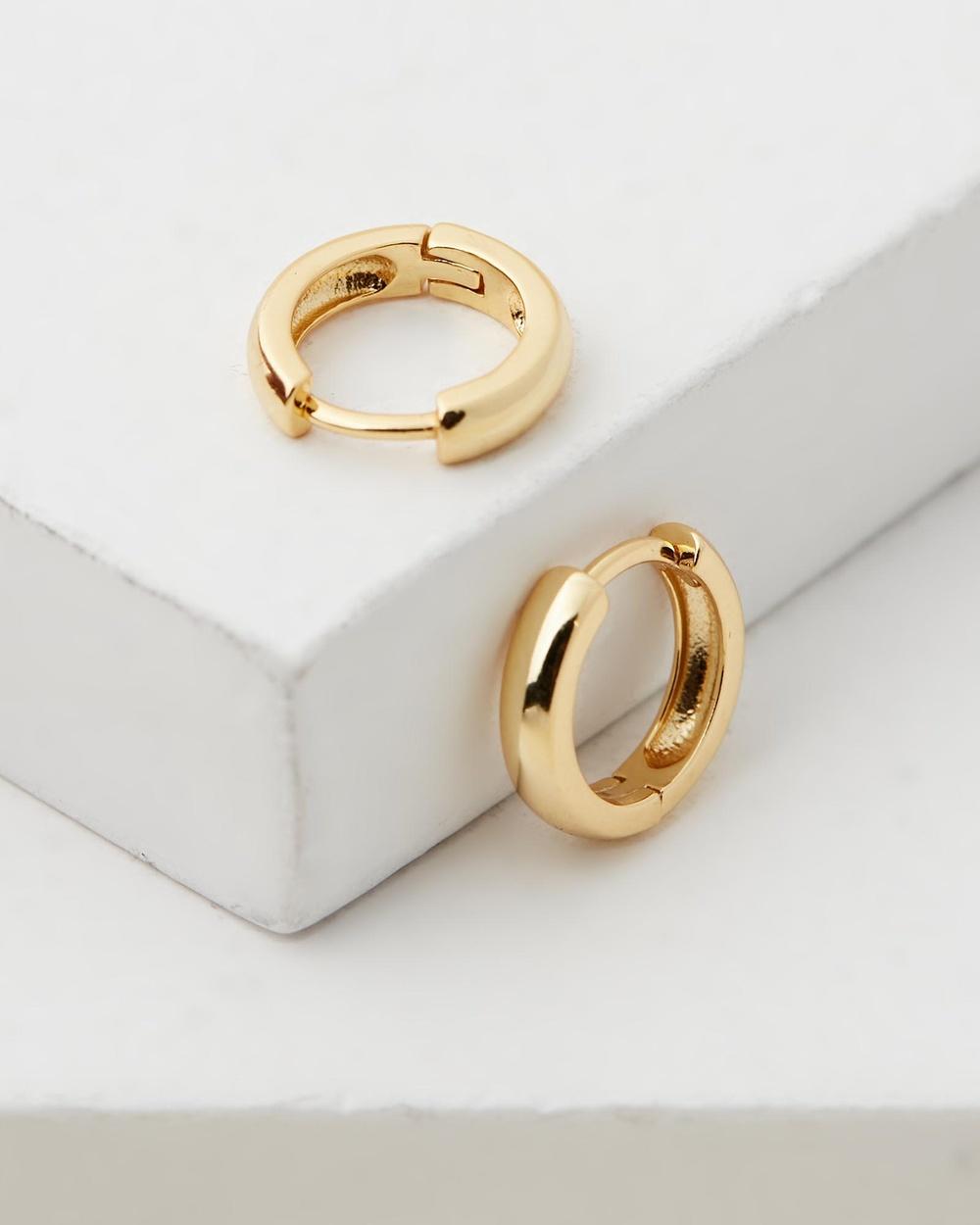 Avant Studio Jade Huggies Jewellery Gold