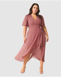 Forever New Curve - Emmaline Wrap Curve Maxi Dress