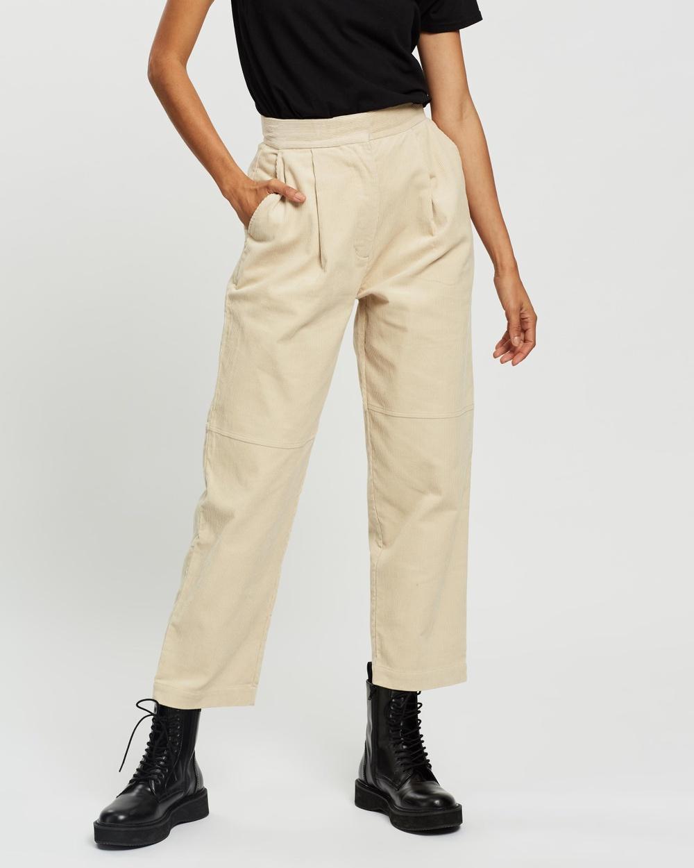 AERE Organic Cotton Cord Pants Neutral