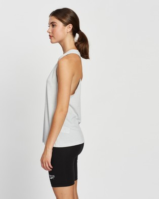 Reebok Performance ACTIVCHILL+COTTON Graphic Tank Top - Muscle Tops (Pure Grey)
