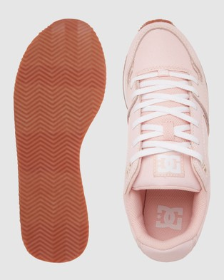 DC Shoes Womens Alias Shoe - Low Top Sneakers (PINK/WHITE)