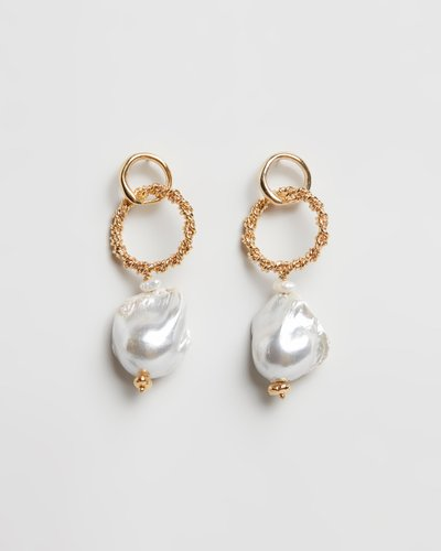 Gold Plated Waves Sea Earrings