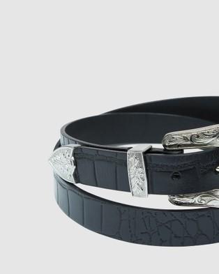 Oxford Dana Leather Waist Belt - Belts (Black)