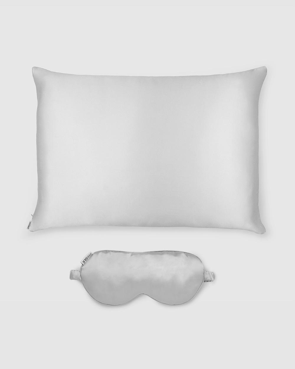 Shhh Silk Eye Mask and Pillowcase Sleep Grey