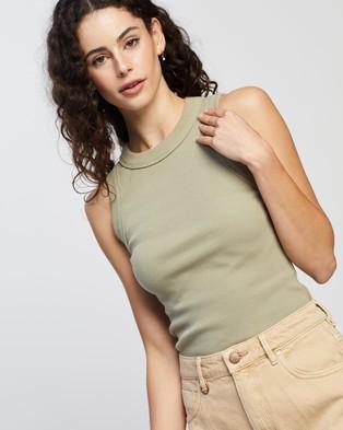 Neuw Jonesy Singlet - T-Shirts & Singlets (Oil Green)