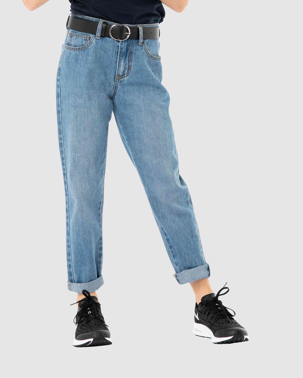 Rusty High Rise Straight Jean Girls Jeans THD Australia