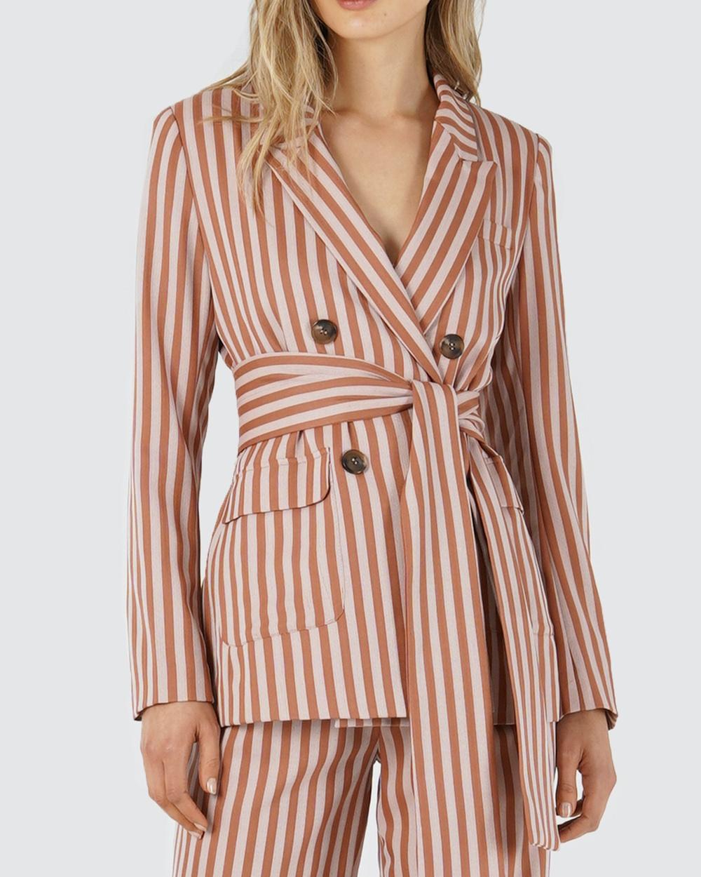 Amelius Cardinal Jacket Suits & Blazers Pink