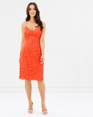 Guess – Jillian Lace Dress Hot Coral