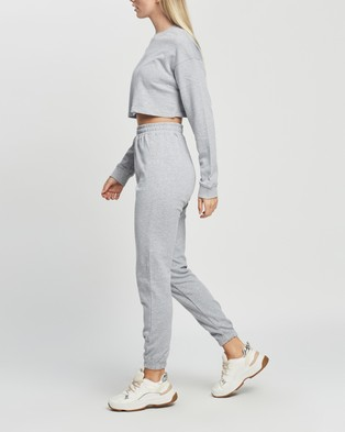 Australia Missguided Crop Sweat & Jogger Co Ord Set - Sweats (Grey Marle)