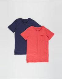 Cotton On Kids - 2-Pack Louis Short Sleeve Texture Tee - Kids