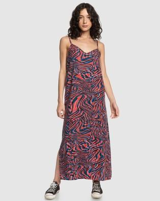 Quiksilver Quiksilver Womens Strappy Maxi Dress - Dresses (VIBRANT ORANGE WILDL)
