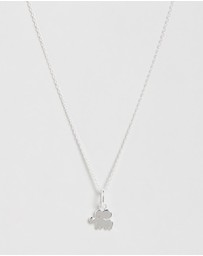 My Little Silver - Sterling Silver Good Luck Elephant Pendant & Necklace - Kids