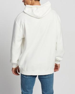 Factorie Reverse Fleece Hoodie - Hoodies (White)