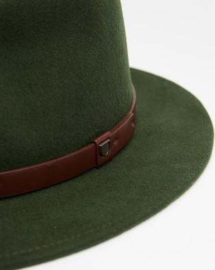 Brixton Messer Fedora - Hats (Moss)