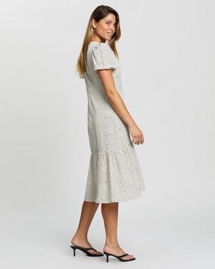 Atmos&Here Antonia Midi Dress - Printed Dresses (White Based Print)