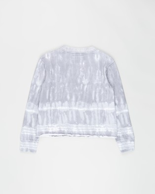 Abercrombie & Fitch Graphic Sweat Top Teens Sweats Grey Wash