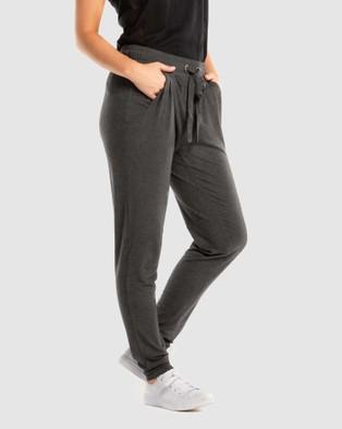 Deshabille Wanderlust Travel Pants in Bag - Pants (Charcoal Marle)