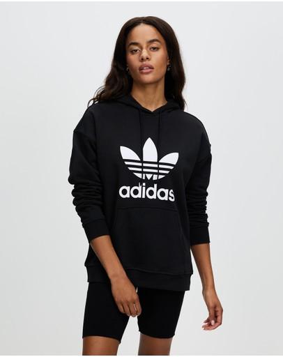 Adidas Originals Adicolor Trefoil Hoodie Black