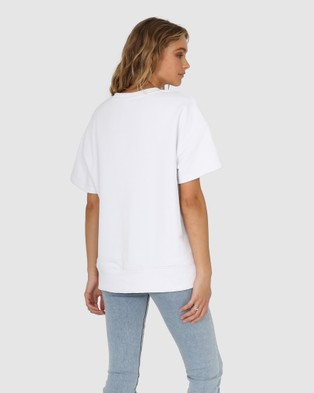 Madison The Label Madison Sweater Tee - T-Shirts & Singlets (White)