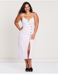 Atmos&Here Curvy - Bonnie Button Cami Dress