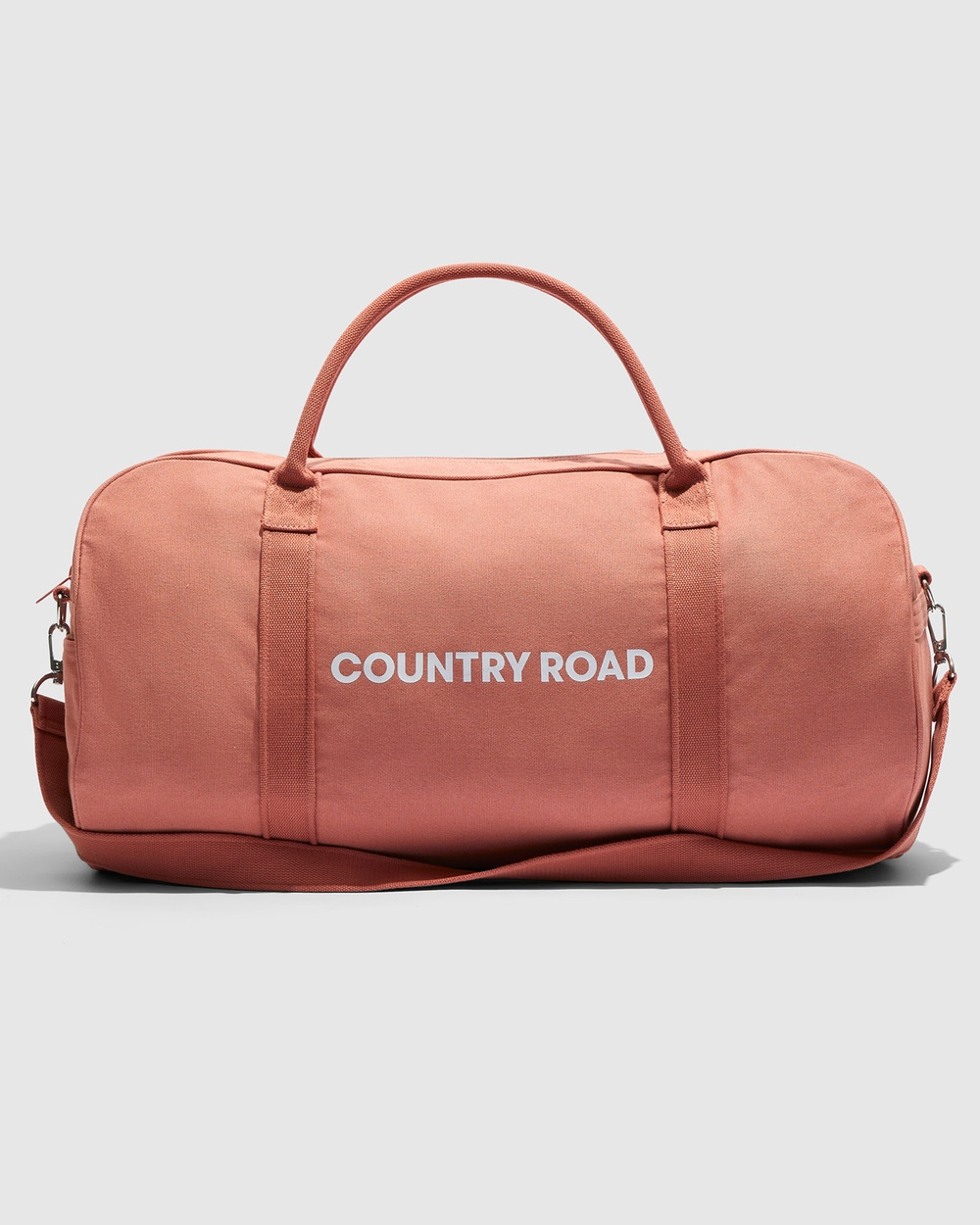 Country Road Zip Canvas Logo Tote Bags neutrals