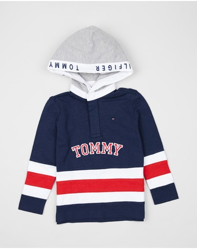 Tommy Hilfiger Kids - Cut And Sew Rugby Hoodie - Kids