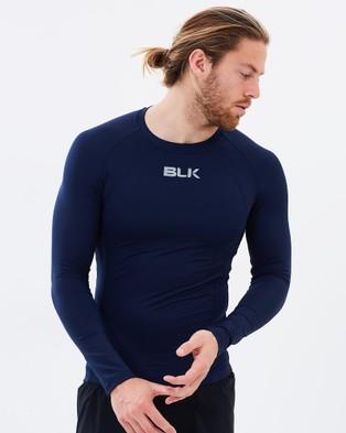 BLK – Men's Baselayer Long Sleeved Tee – Tops (Navy)