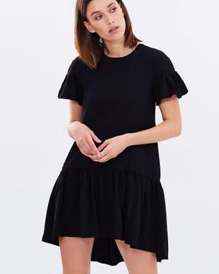 DELPHINE – Mimicry Dress – Dresses (Black)