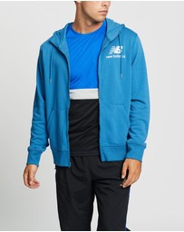 New Balance - Essentials Stacked Logo Full Zip Hoodie