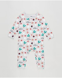 Cotton On Kids - The Long Sleeve Snap Romper - Babies