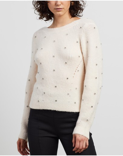 Self Portrait - Diamante Back Twist Jumper