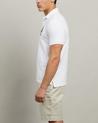 Polo Ralph Lauren Short Sleeve Knit Polo - Shirts & Polos (White)
