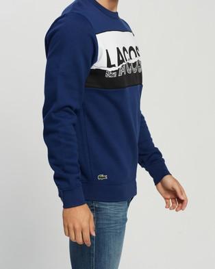 Lacoste Lifestyle Panel Logo Sweater - Sweats (Methylene)