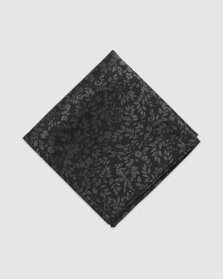 Buckle Verde Tie & Pocket Square Set - Ties (Black)