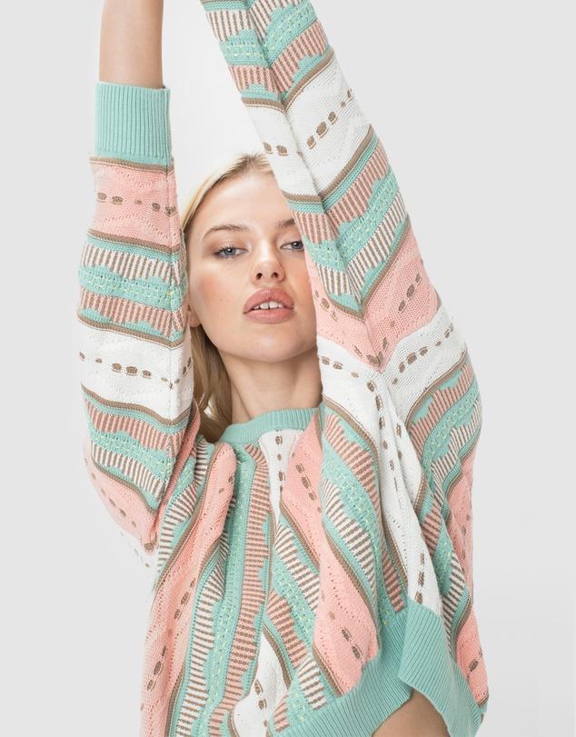 Women Crew Jacquard Knit