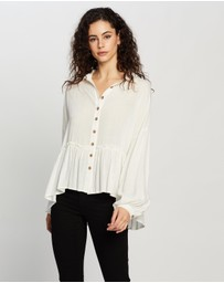 Atmos&Here - Lillian Button Front Blouse