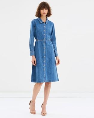 M.I.H – Lou Lou Dress Denim Flat Blue