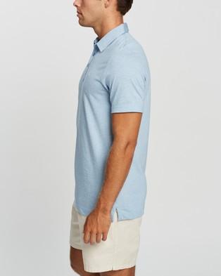 TravisMathew The Zinna Golf Polo Shirt - Shirts & Polos (Heather Light Blue)