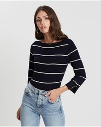 Stripe Button Jumper