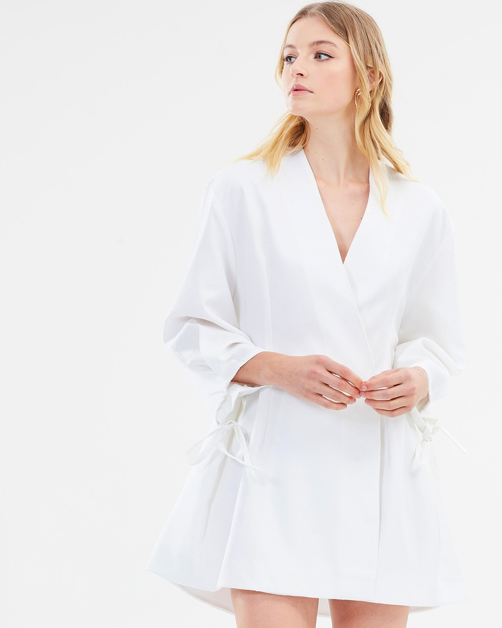 Maurie & Eve Lejano Jacket Dress Dresses Crisp White Lejano Jacket Dress