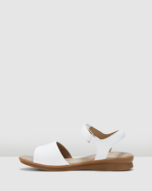 Hush Puppies Nigella Pl - Sandals (White)