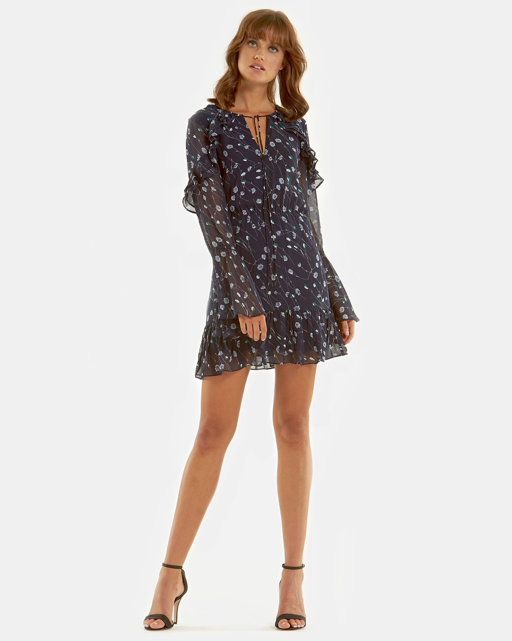 Amelius Addison Print Dress Printed Dresses Navy Print Addison Print Dress
