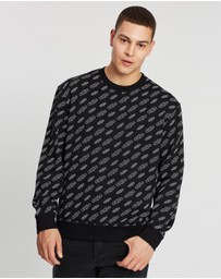 Calvin Klein Jeans - All-Over-Print Relaxed Crew Neck Sweater