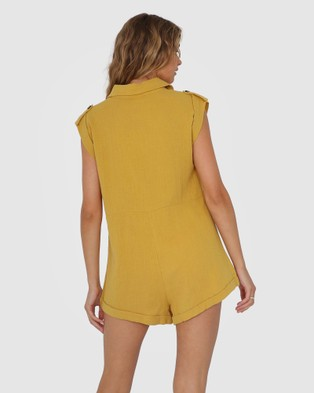 Lost in Lunar  Kai Playsuit - Jumpsuits & Playsuits (Mustard)