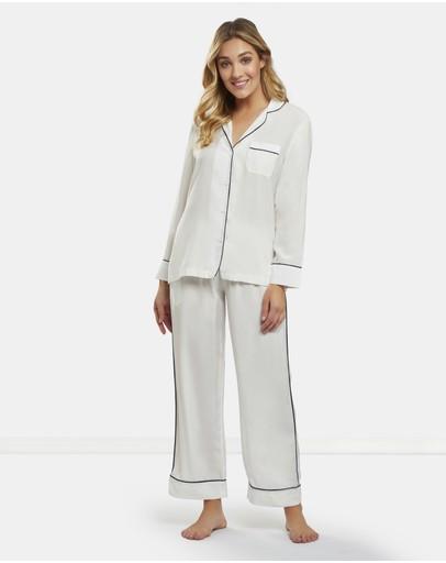 Dream With Me Classic White Pyjama Set