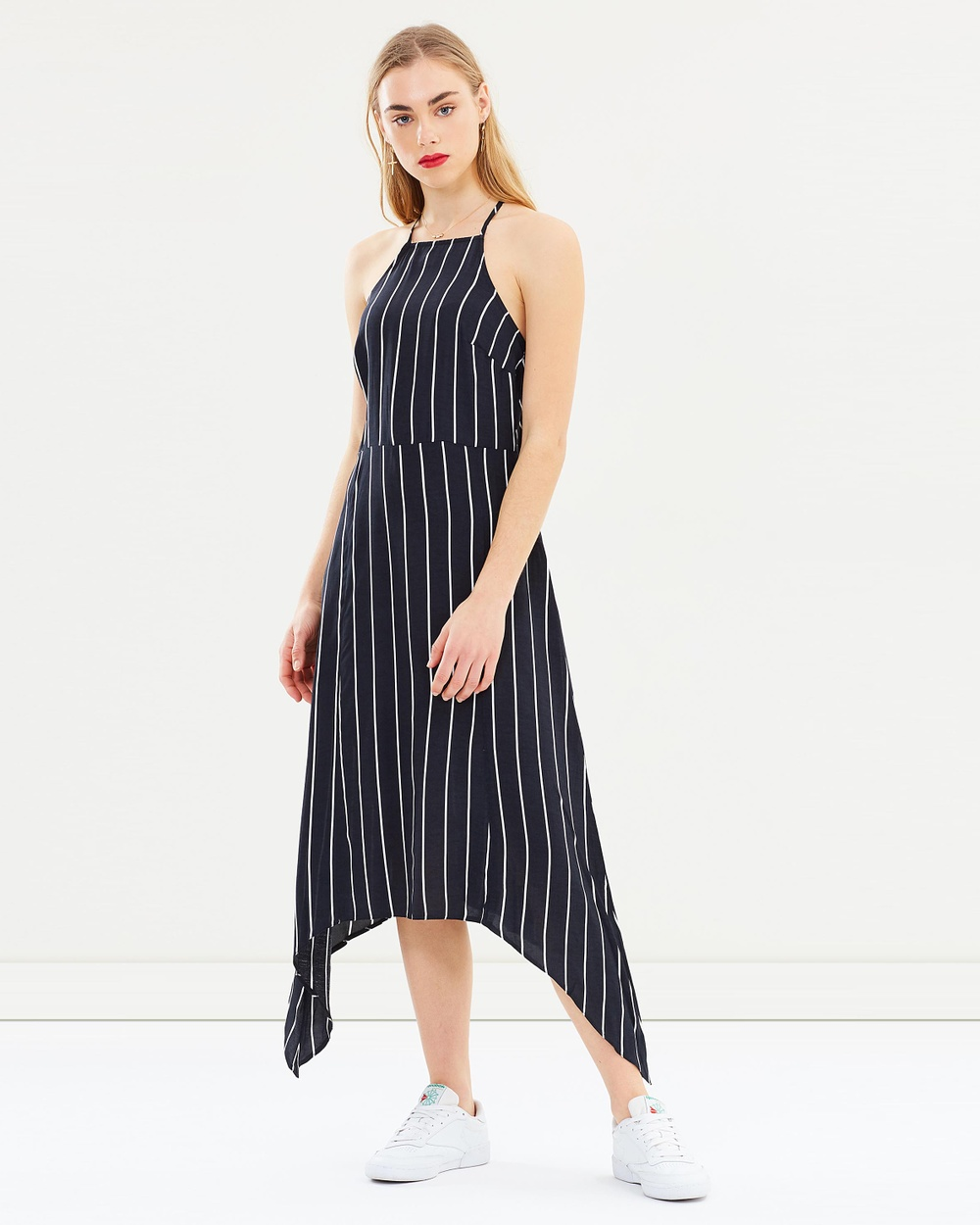 Miss Selfridge Stripe Hanky Hem Dress Dresses Black Stripe Hanky Hem Dress