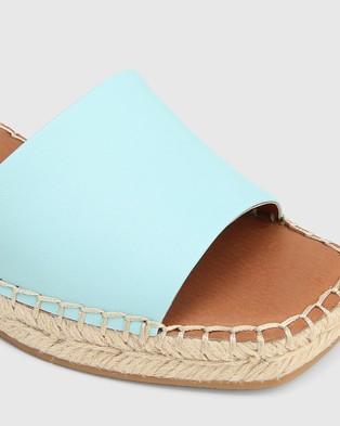 Wittner Krysta Leather Espadrille Wedge Sandals - Wedges (Blue)